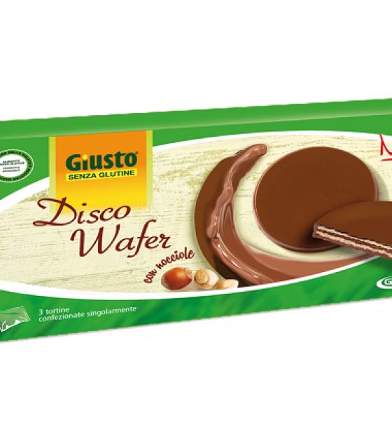 Disco Wafer Crema Nocciola e cioccolato Latte