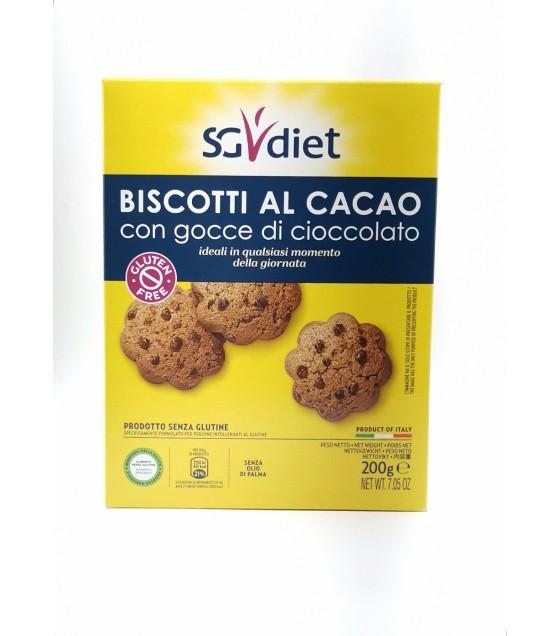 Sg Diet Biscotti al Cacao con Gocce di Cioccolato