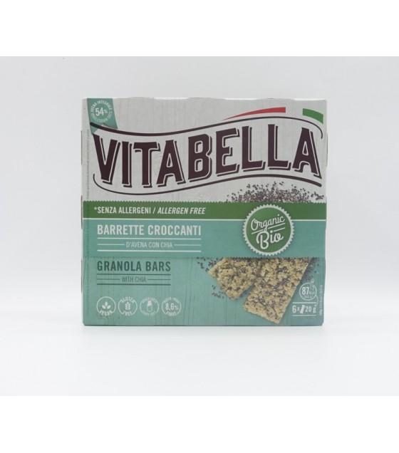 Vitabella Barrette di Avena Croccanti con Semi di Chia Bio 6x20g