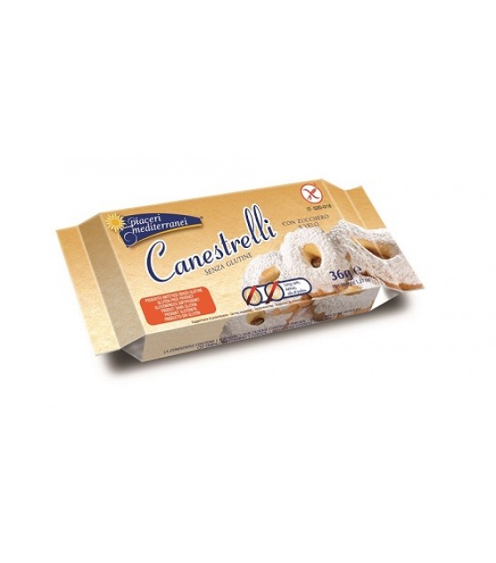 Piaceri Medit Canestrelli 36g SENZA LATTOSIO
